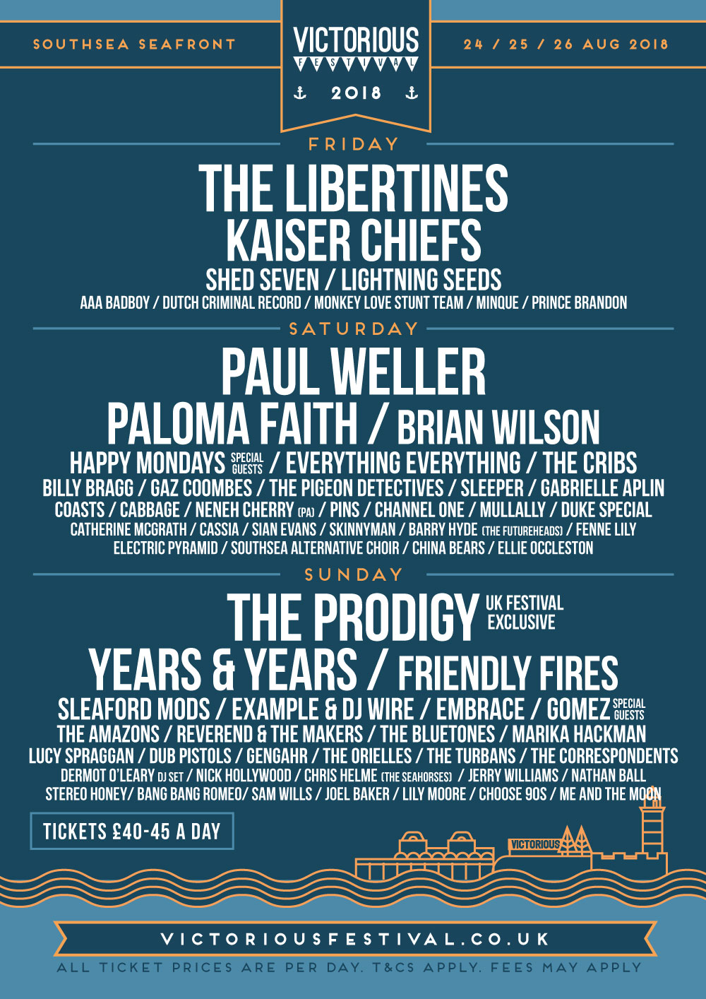 Line up Archive - Victorious Festival